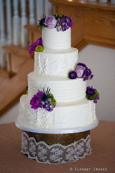 Our wedding cake- with a white on white mountain scene... LOVED IT!