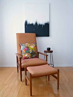 Make a really simple abstract painting.