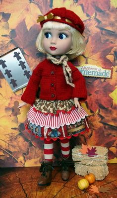 **GiNGeRBReaD DaNCe!**... 5 PC's of cute clothing for #Tonner Patience 14 in. DoLLs #ClothingAccessories Click the pix to take you there!