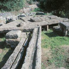 *ITALY ~ Old ruins of a built structure, Etruscan Necropolis, Veio, Isola Farnese, Lazio Region, Italy