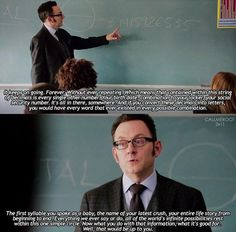 Harold's quote. If you do not love Harold Finch, you are wrong. #HaroldFinch #POI