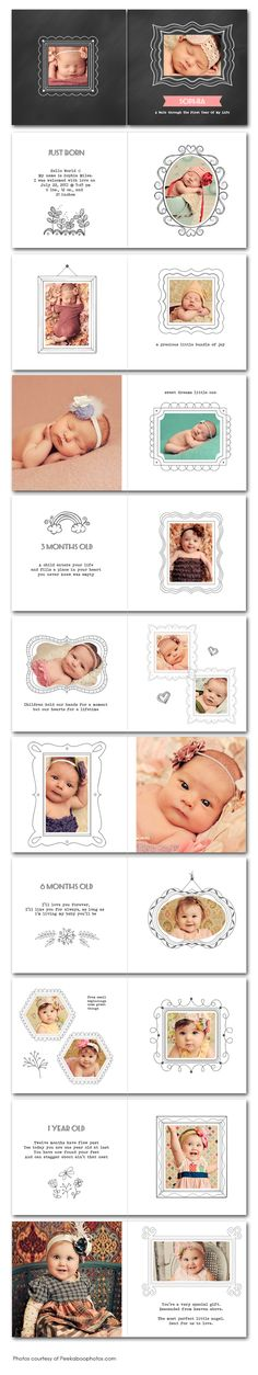 Baby First Year Photo Album Template