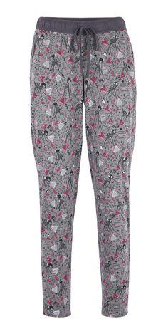 UNDIZ X BAMBI Shake & enfile ton pantalon ! Pantalon de pyjama Disney gris et détails rose Bambi