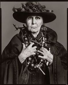 artist Louise Nevelson. by Richard Avedon in 1975