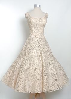 Vintage 1950s Ceil Chapman Woven Gown - Love this. I love dresses from the 50s and 60s