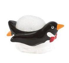 Penguin Dish Scrubby Holder   Penguin Place