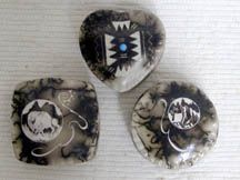 Native American Navajo Ceramic Horsehair Pottery Navajo Indian Made Ceramic Jewelry Boxes $14