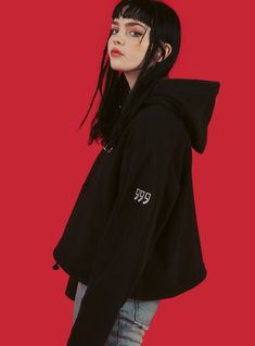 """The BOX hoodie features a super boxy fit with embroidered UNIF on the chest and """""""" detailing on the sleeves. Fit is oversized. Street Look, Street Wear, Street Style, Pretty People, Beautiful People, Portrait Inspiration, Style Inspiration, Female Reference, Aesthetic Girl"""