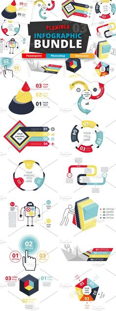 @newkoko2020 Flexible Infographic Bundle (vol.3) by Infographic Paradise on @creativemarket #infographic #infographics #bundle #design #template #presentation #vector #business #layout #creative #graph #information #visualization