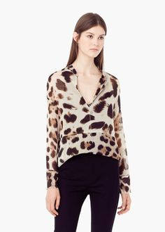 Blusa estampado animal   MANGO