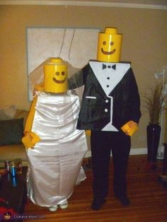 A Lego Wedding | 29 Hilarious Couples Halloween Costumes