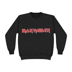 Iron Maiden Men's Logo Sweatshirt Black - http://bandshirts.org/product/iron-maiden-mens-logo-sweatshirt-black/