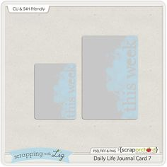 Free This Week Journaling Card for Project Life | [ One Velvet Morning ]