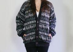 South American tribal print sweater / Vintage by dustyrosevintage, $50.00