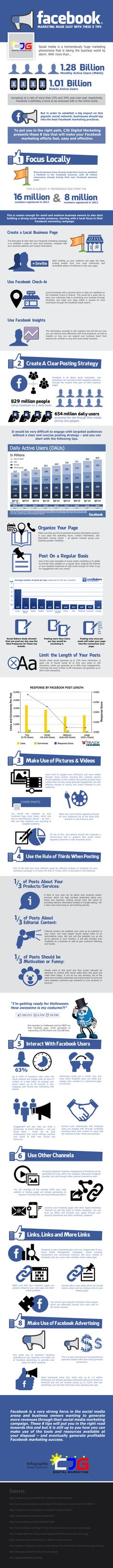 The following infographic will show you 8 actionable tips on how to do Facebook marketing…
