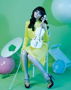 """Daydreaming"" | Model: Nastya, Photographer: Lucia Giacani, Made WS Magazine, September 2011"