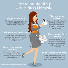 Tips to be #healthy with busy #lifestyle