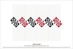 Semne Cusute: MOTIVE: (P35, M36) Creative Embroidery, Folk Embroidery, Embroidery Patterns, Knitting Patterns, Cross Stitch Borders, Beading Patterns, Pixel Art, Diy And Crafts, Textile Art