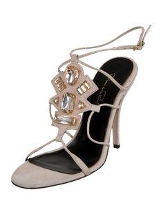 Oscar de la Renta Jewel-Embellished Sandals - Shoes - OSC36545 | The RealReal