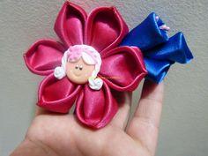 facil flor en cinta para decorar accesorios para el cabello paso a paso....