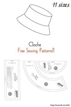 Hat Patterns To Sew, Dress Sewing Patterns, Sewing Patterns Free, Free Sewing, Clothing Patterns, Sewing Hacks, Sewing Tutorials, Sewing Crafts, Sewing Lessons
