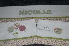 Conjunto de fraldas bordadas a mão!!! Vintage flowers handmade patch