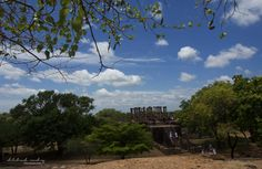 the Medirigiriya Vatadage from a distance