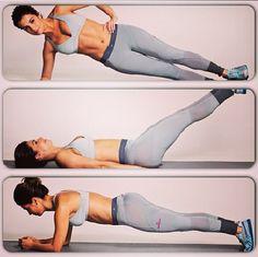 Top 3 exercícios para um abdômen firme! PRANCHA! 30 segundos cada lado e de frente.