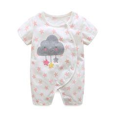 2017 летние детские одежда для девочек 100% хлопок Боди Короткие Детские комбинезоны Брендовая детская одежда для маленьких мальчиков Одежда для младенцев купить на AliExpress