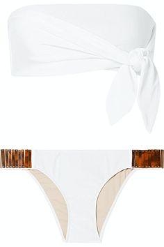 Гид по купальникам: самые актуальные модели сезона Bikini Bandeau, White Bikinis, Chan Luu, Adriana Degreas, Victoria Secret Bikini, Striped Swimsuit, Victoria Dress, Swimsuits, Tumblr Outfits
