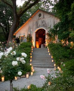 Candle-lit paths