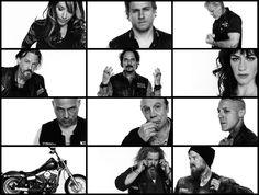 Sons Of Anarchy // Gemma // Jax // Clay // Chibs // Tig // Tara // Happy // Unser // Juice // Bobby // Opie