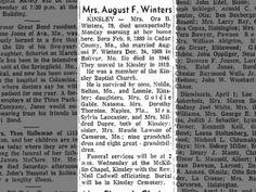 Ora Belle Montgomery Winters obituary