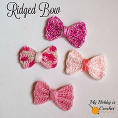 crochet bow free pattern