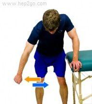 Pendular rotator cuff injury exercises. Approved use www.hep2go.com