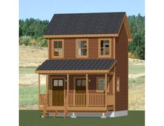PDF house plans garage plans & shed plans. Shed Plans 12x16, Diy Shed Plans, Garage Plans, Porch Plans, Cabin House Plans, Tiny House Plans, Tiny Cabin Plans, Shed Cabin, Shed Homes