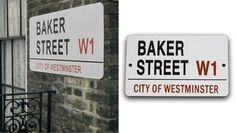 Sherlock party decor: Baker Street sign