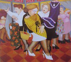 Britain's Biggest Stockist of Beryl Cook Fine Art Naive, Beryl Cook, Local Painters, Plus Size Art, Cartoon Girl Images, Comic Art Girls, English Artists, Hens Night, Ladies Night