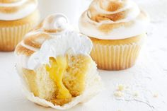 Lemon Meringue Cupcakes ~ www.taste.com.au