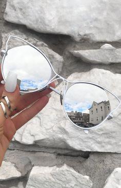 900c051da55d TopFoxx Sunglasses - Indecent in White Silver Cute Glasses