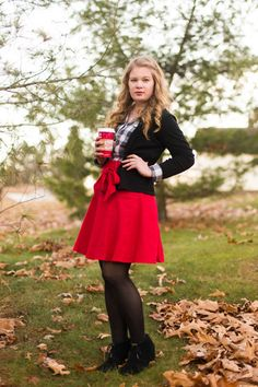 Musee Matisse Skirt in Crimson | Mod Retro Vintage Skirts | ModCloth.com