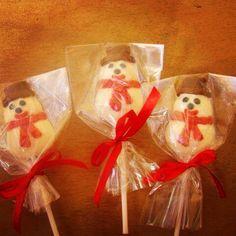 Muñecos de Nieve en chocolate!!! Mmmm!!!