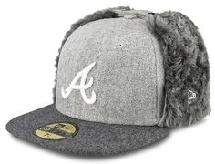 Melton Atlanta Braves Dog Ear 59Fifty Fitted Cap By NEW ERA x MLB Fitted  Baseball Caps b7c173ae2e1