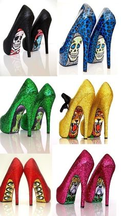 Glitter rainbow shoes