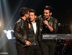 Fotografía de noticias : Italian pop trio Il Volo Piero Barone, Gianluca...