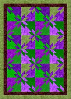 In this design, there are 4 fabrics chosen from each of 2 color groups to make each block. To use the Hunter's Star  fabric calculator, ch...