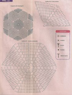 Crochet Diagram, Crochet Chart, Crochet Motif, Crochet Doilies, Crochet Quilt, Crochet Ball, Crochet Home, Diy Crochet, Crochet Books