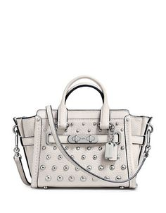 COACH Coach Swagger 15 Ombre Rivets Pebble Leather Satchel. #coach #bags #shoulder bags #hand bags #leather #satchel #