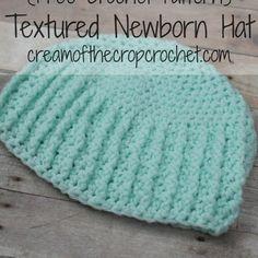 Textured Newborn Hat Pattern