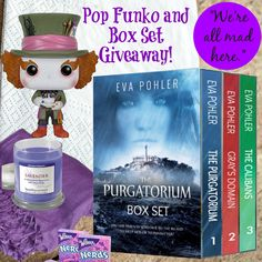 Enter to win these amazing #Books and a #PopFunko here: http://www.evapohler.com/giveaways/madhatter-popfunko-purgatorium-boxset-giveaway/?lucky=22199